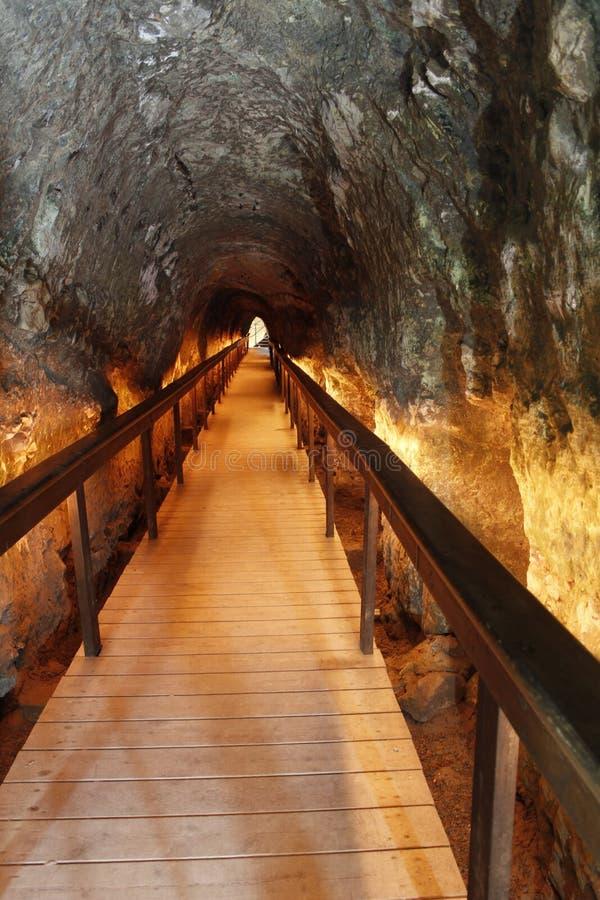 O túnel de Megiddo, as revelações dura a batalha imagem de stock