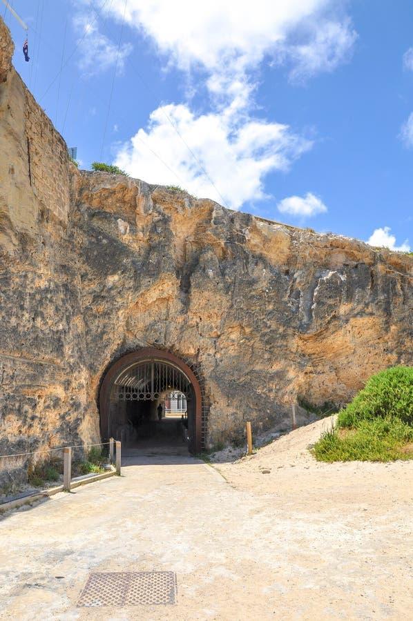 O túnel do baleeiro na cabeça de Arthur: Fremantle, Austrália Ocidental foto de stock royalty free