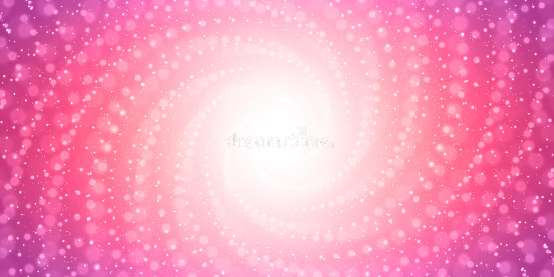 O túnel infinito do vetor do brilho alarga-se no fundo cor-de-rosa com profundidade de campo rasa Túnel de incandescência do form ilustração do vetor