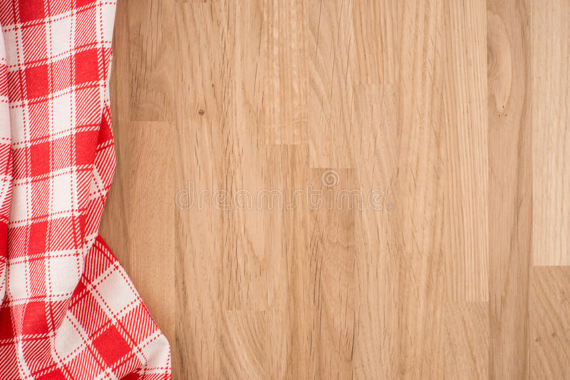 O tablecloth checkered imagem de stock royalty free