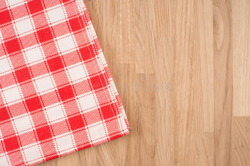 O tablecloth checkered foto de stock