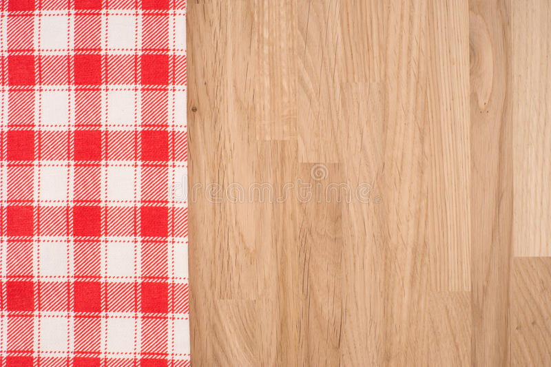 O tablecloth checkered fotografia de stock
