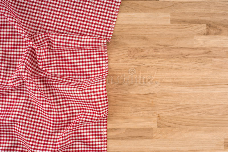 O tablecloth checkered fotografia de stock royalty free