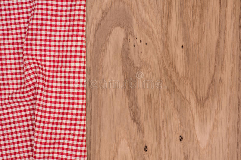 O tablecloth checkered imagem de stock