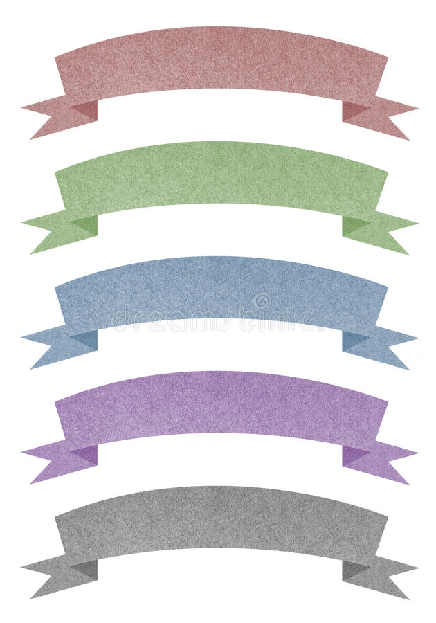 O Tag do encabeçamento recicl o papel para faz a vara da nota fotografia de stock