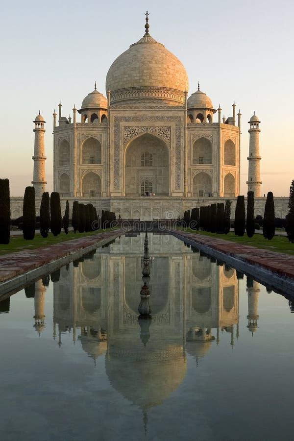O Taj Mahal em India foto de stock