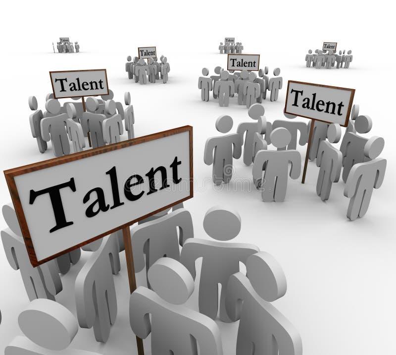 O talento agrupa povos Job Prospects Candidates Applicants Signs ilustração do vetor