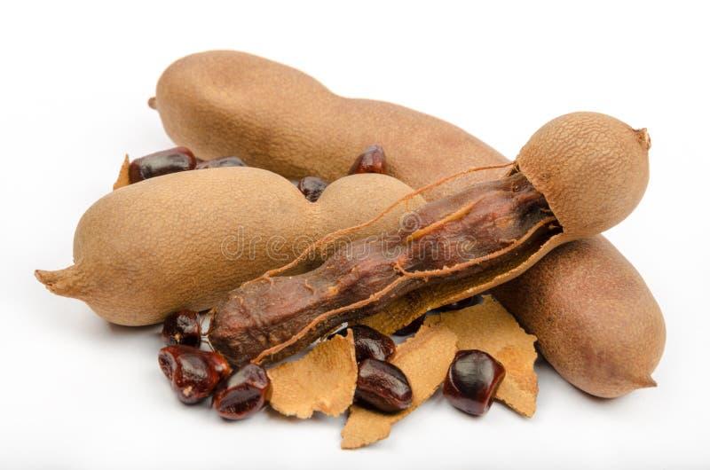 O Tamarind é um alimento popular de 3Sudeste Asiático, Norte de África e dentro fotos de stock royalty free