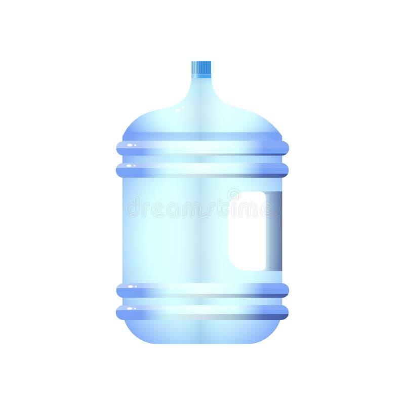 O tambor plástico o mais grande da garrafa de água deu forma ao projeto com o trajeto em quarto puddening e grampear isolado no b ilustração stock
