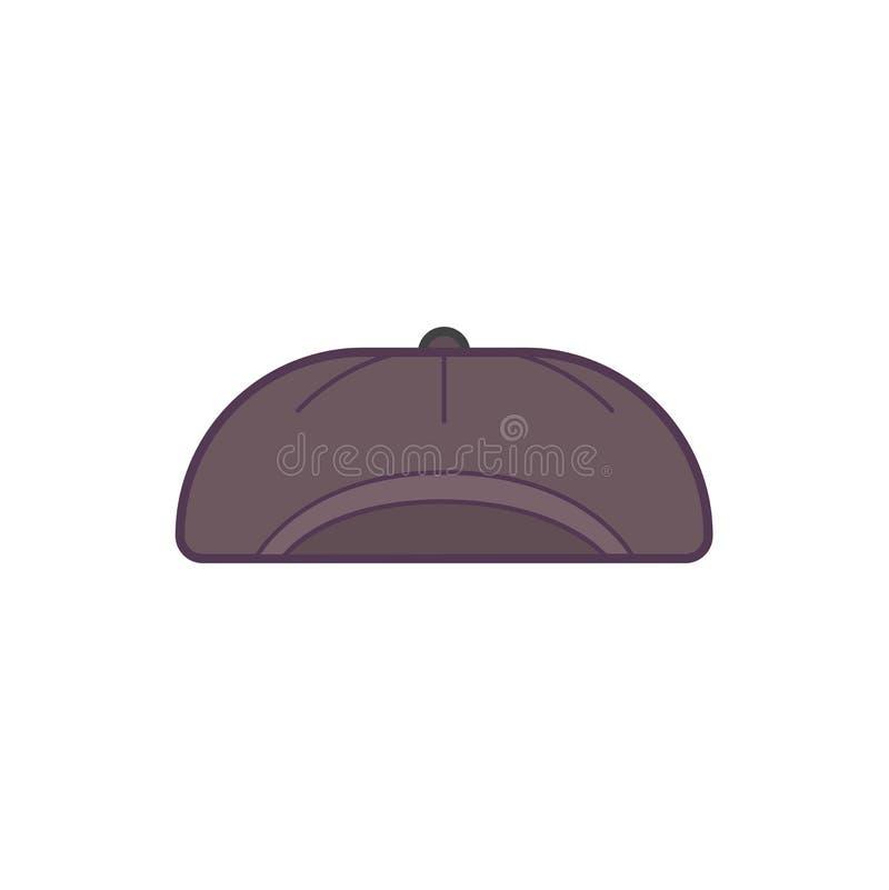 O tampão do chapéu de Printwinter com floco de neve e o pompom vector a ilustração ilustração stock
