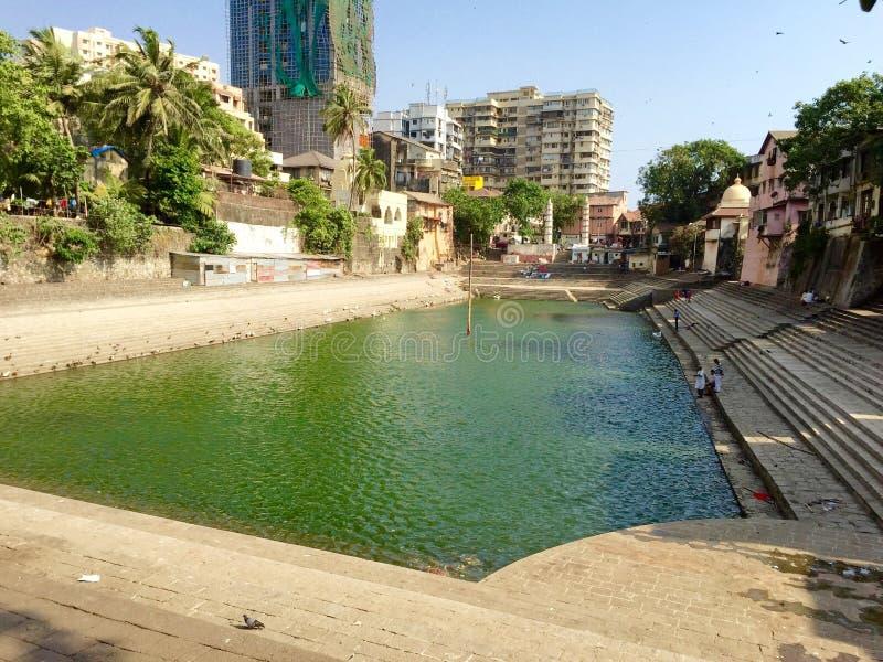 O tanque de Banganga, Waukesha, Índia de Mumbai imagem de stock