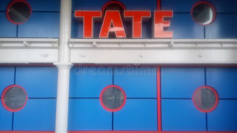 O tate azul e alaranjado imagens de stock