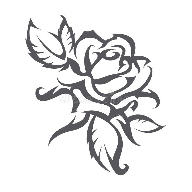 O tatuagem de levantou-se ilustração do vetor