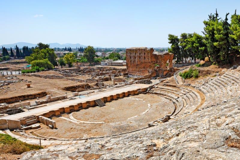 O teatro antigo de Argos, Grécia foto de stock royalty free