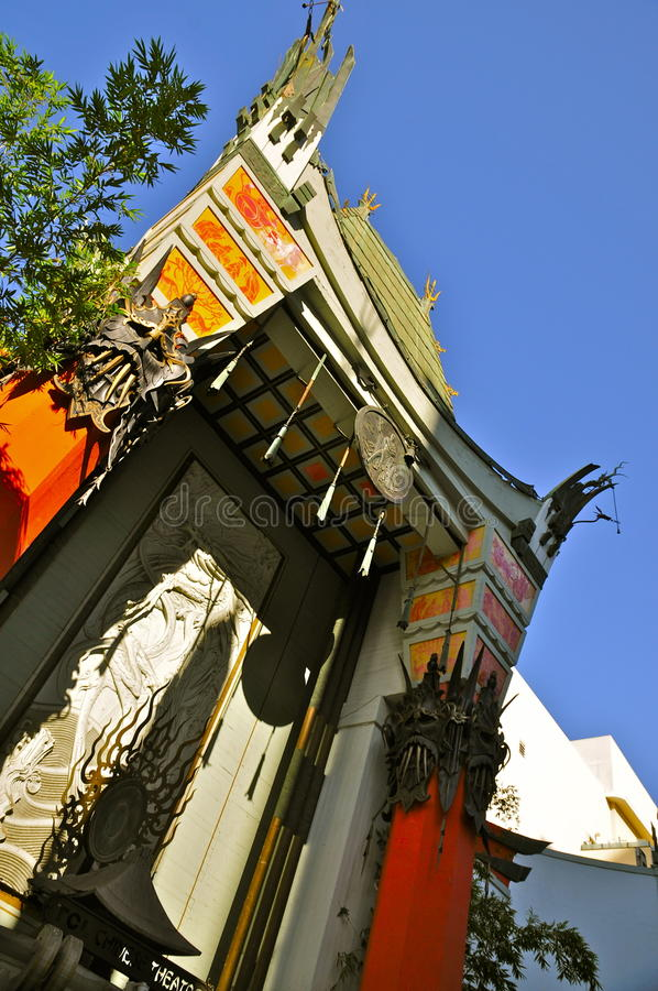 O teatro chinês, Hollywood fotografia de stock royalty free