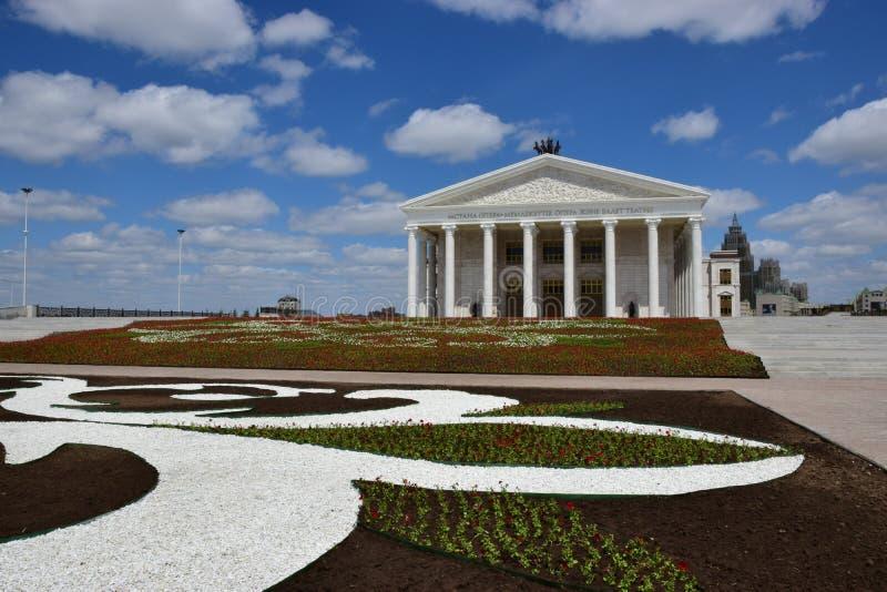 O teatro da ópera novo em Astana imagem de stock royalty free