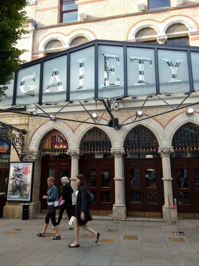 O teatro da alegria em Dublin imagens de stock royalty free