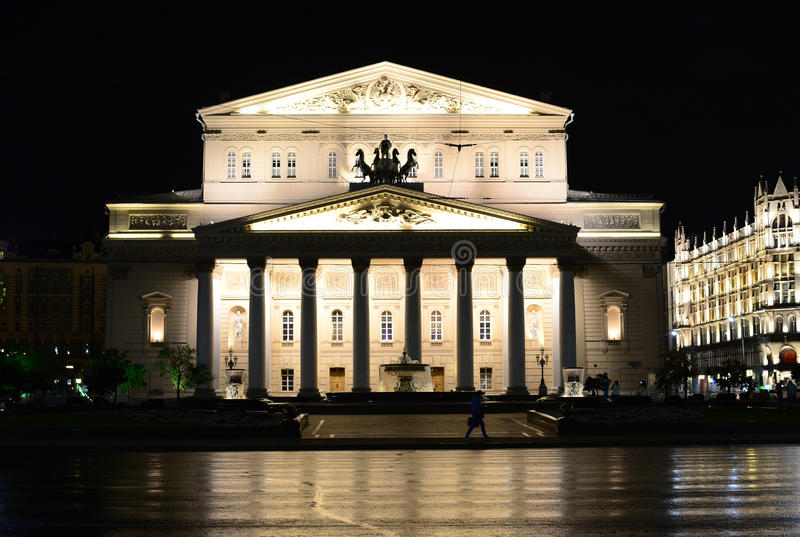 O teatro de Bolshoi fotografia de stock