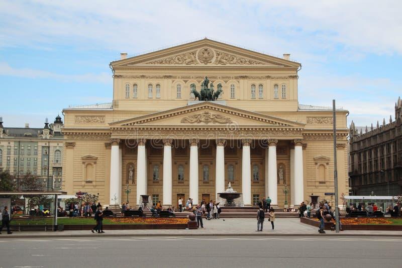 O teatro de Bolshoy, Moscou imagens de stock