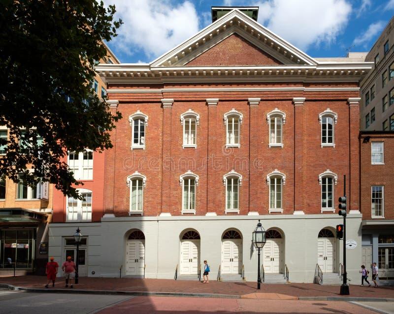 O teatro de Ford histórico em Washington D C fotos de stock royalty free