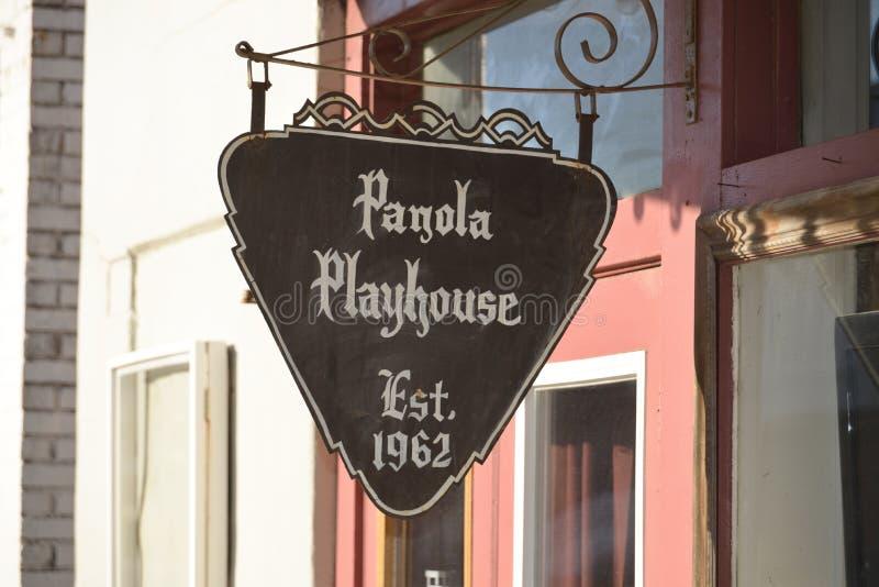 O teatro de Panola estabeleceu 1962, Sardis Mississippi imagens de stock royalty free