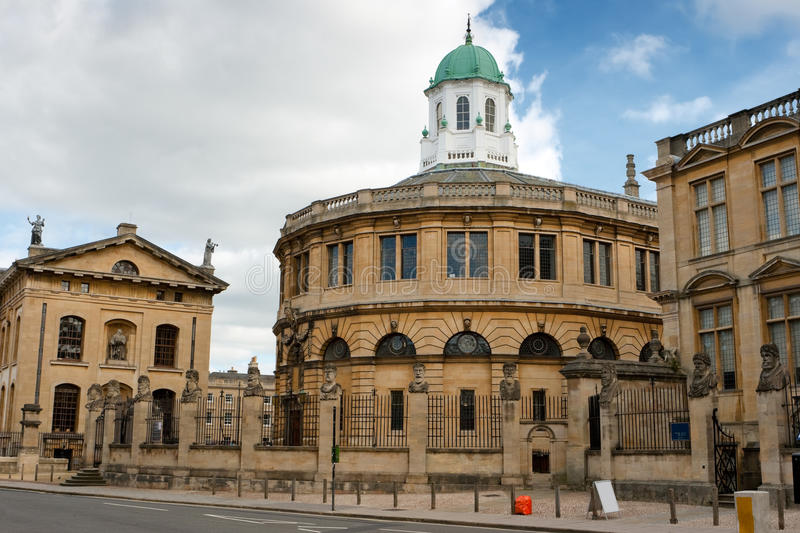O teatro de Sheldonian. Oxford, Inglaterra fotos de stock royalty free