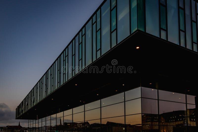 O teatro dinamarquês real em Copenhaga imagem de stock royalty free