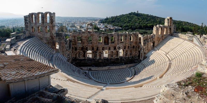 O teatro do Atticus de Herod fotografia de stock royalty free