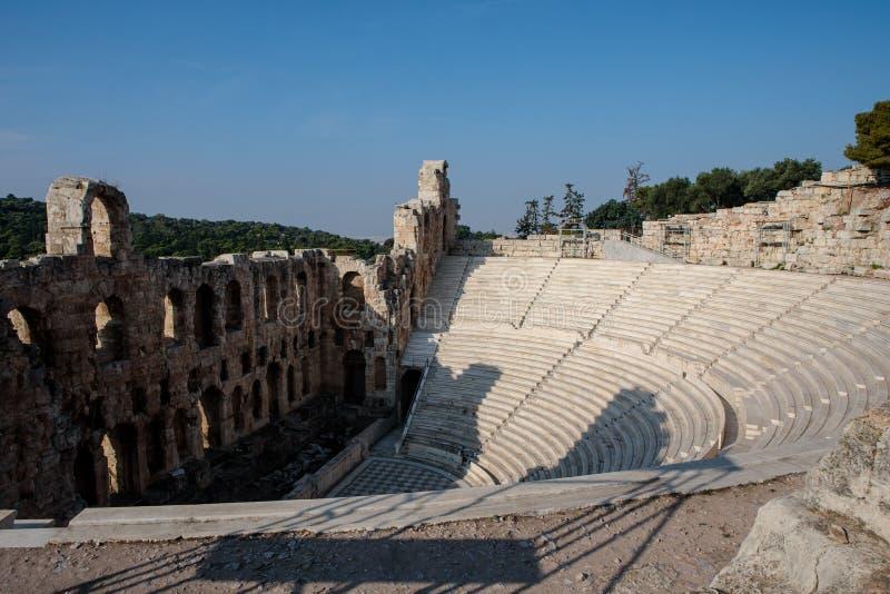O teatro do Atticus de Herod foto de stock