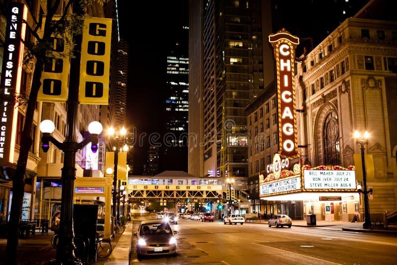 O teatro famoso de Chicago em Chicago, Illinois. foto de stock