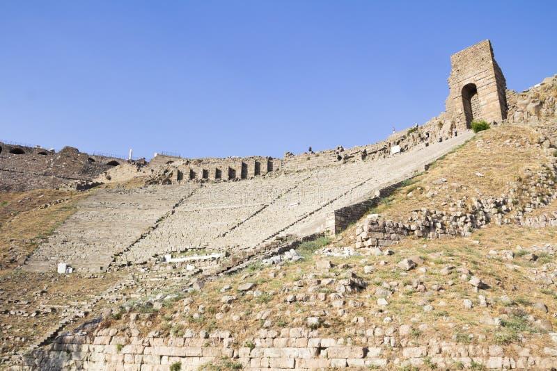 O teatro Hellenistic em Pergamon fotos de stock