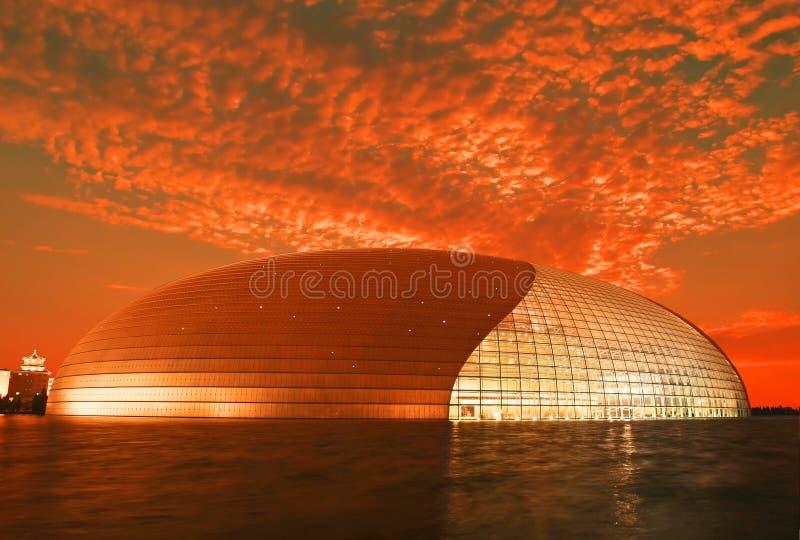 O teatro nacional em Beijing imagem de stock