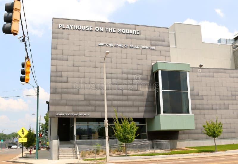 O teatro no quadrado, Memphis Tennessee imagens de stock