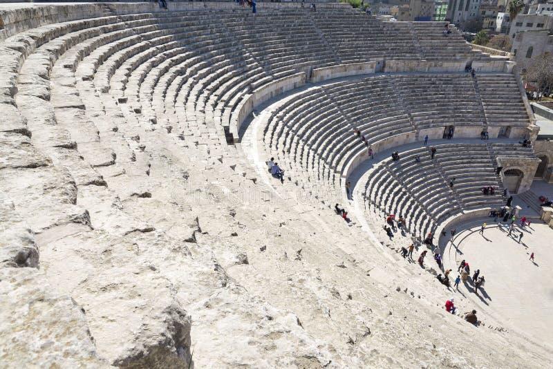 O teatro romano em Amman, Jordânia imagens de stock royalty free