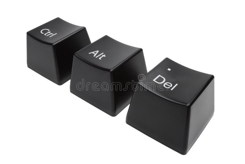 O teclado abotoa CTRL, Alt, Del isolou-se fotos de stock royalty free