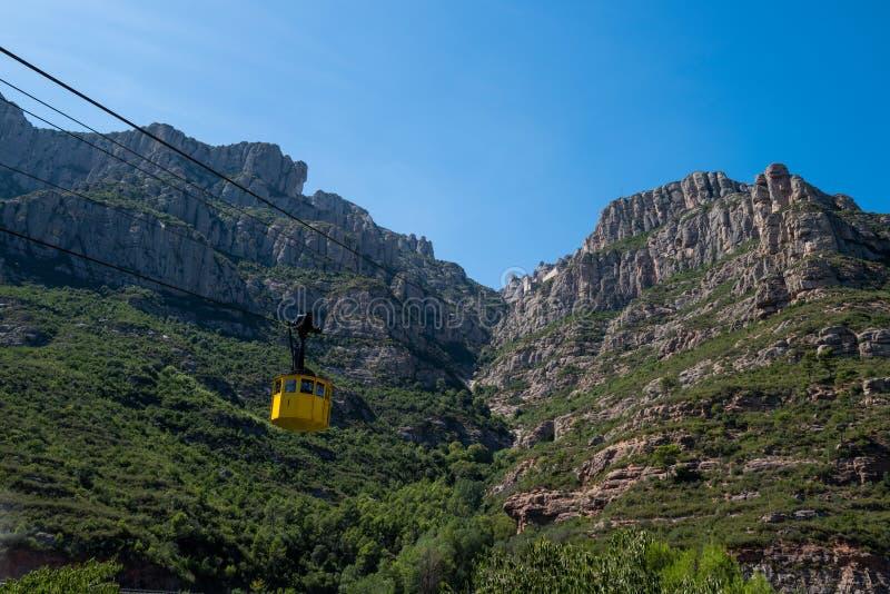 O teleférico ao mosteiro Montserrat fotos de stock