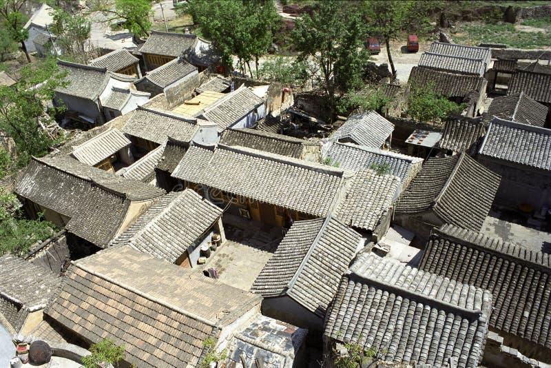 O telhado da cidade chinesa imagens de stock