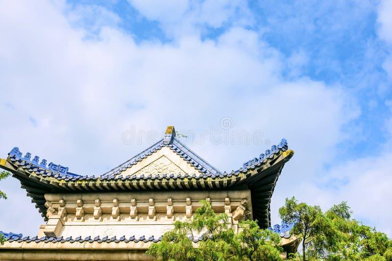 O telhado do pavilhão do Stele fotos de stock