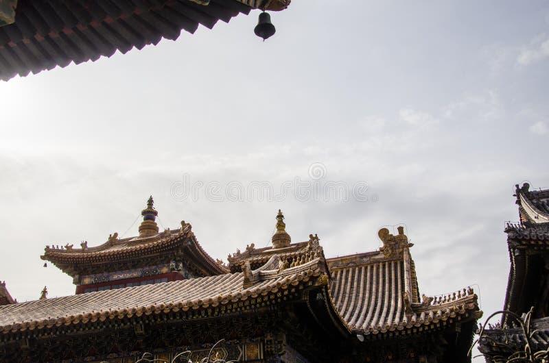 O telhado do templo fotografia de stock