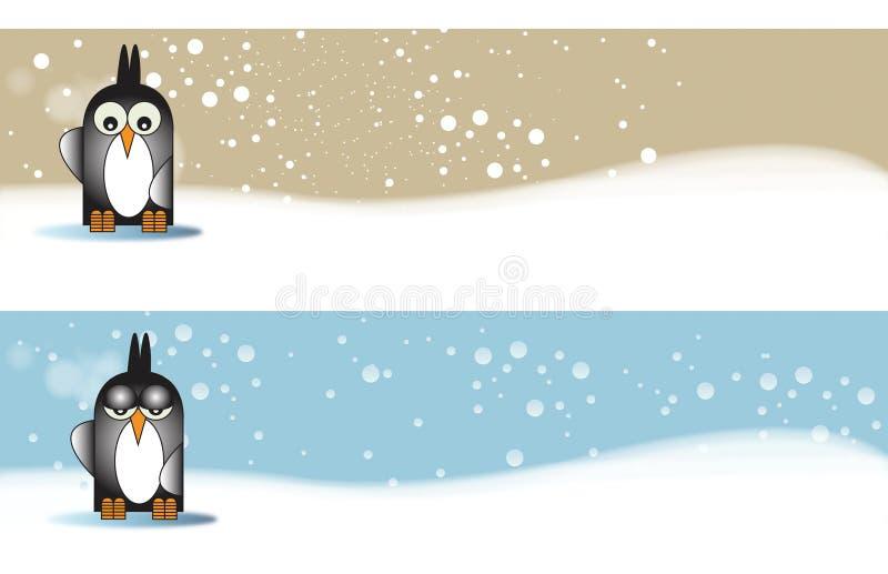o temacie sztandaru penguine ilustracji