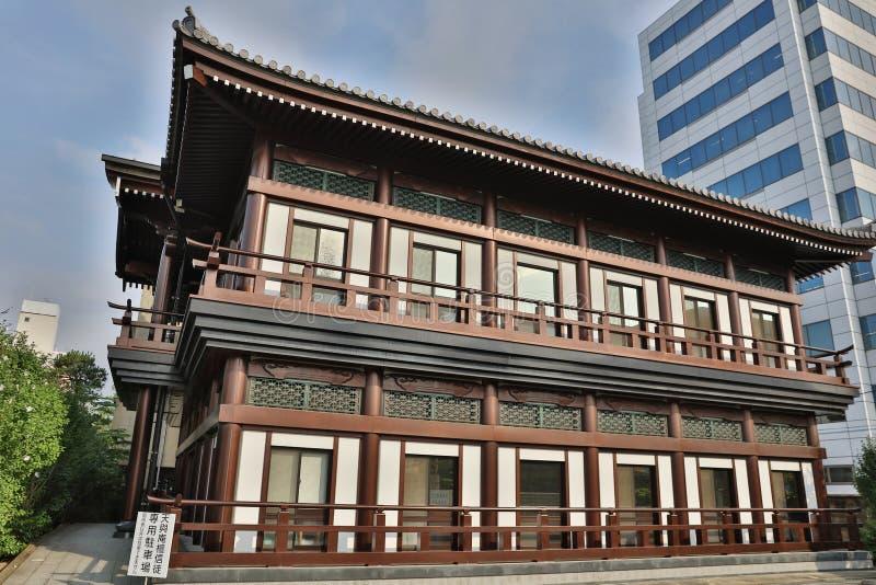O temeple em GIONMACHI Fukuoka fotos de stock