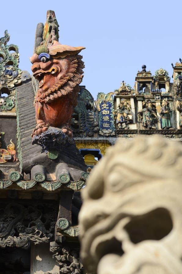 Templo ancestral da família de Chen fotografia de stock