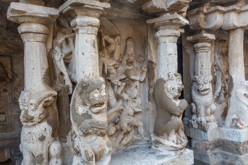 O templo antigo do templo de Kailasanathar e foi construído durante 685-705AD fotografia de stock