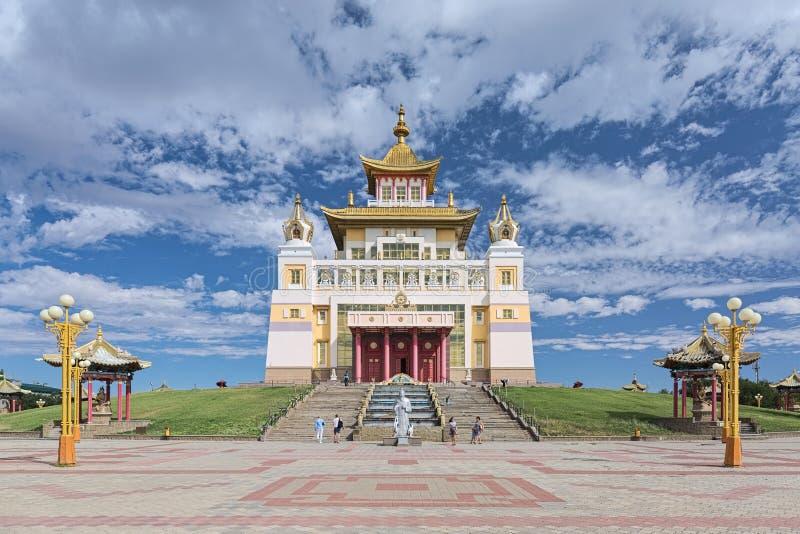 O templo budista principal da república de Calmúquia em Elista, Rússia fotos de stock