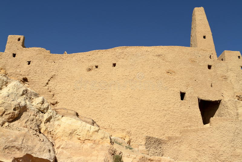 O templo de Ammon na cidade dos oásis de Siwa imagem de stock