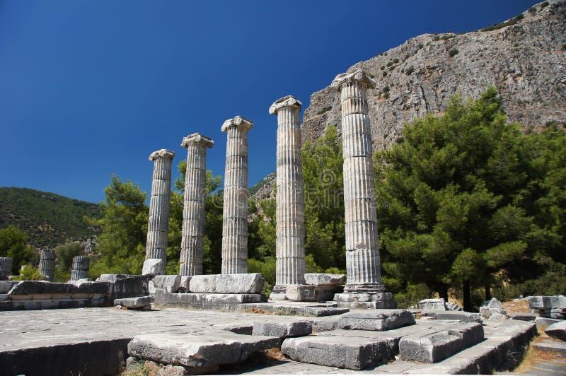 O templo de Athena em Priene imagem de stock royalty free