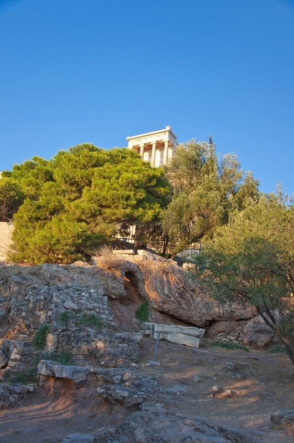 O templo de Athena Nike. Atenas, Grécia. fotografia de stock