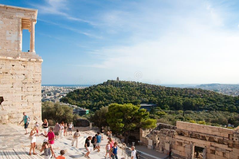 O templo de Athena Nike em agosto de 2013. Atenas, Grécia. imagens de stock