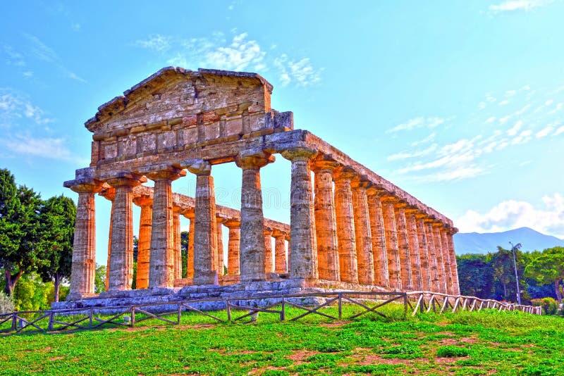 O templo de Athena Paestum Italy fotografia de stock royalty free