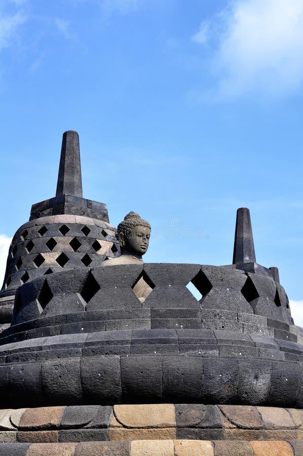 O templo de Borobudur é um destino do turista em Ásia - Indonésia imagens de stock royalty free
